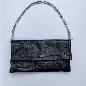 Cecconi Black Leather Clutch
